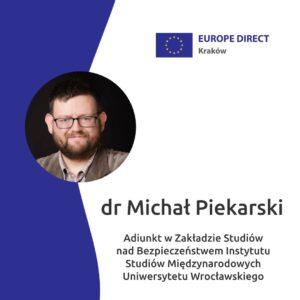 Rozmowa EUROPE DIRECT Kraków – drMichał Piekarski